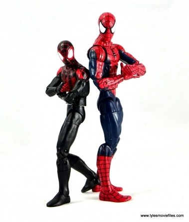 Marvel Legends Miles Morales figure review - back to back with Spidey