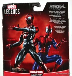 Marvel Legends Miles Morales figure review - package bio