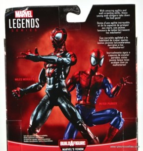 Marvel Legends Miles Morales figure review - package bio