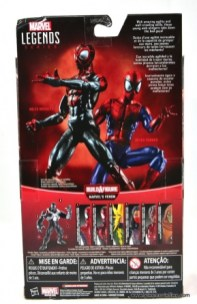 Marvel Legends Miles Morales figure review - package rear