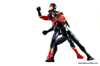 Marvel Legends Miles Morales figure review - punching Speed Demon
