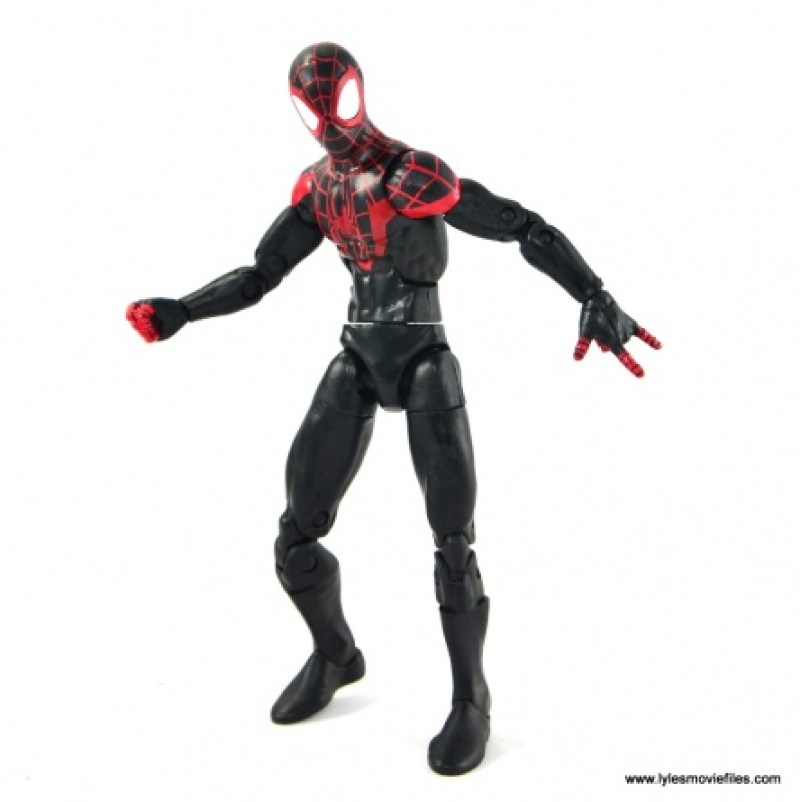 Marvel Legends Miles Morales figure review - standing