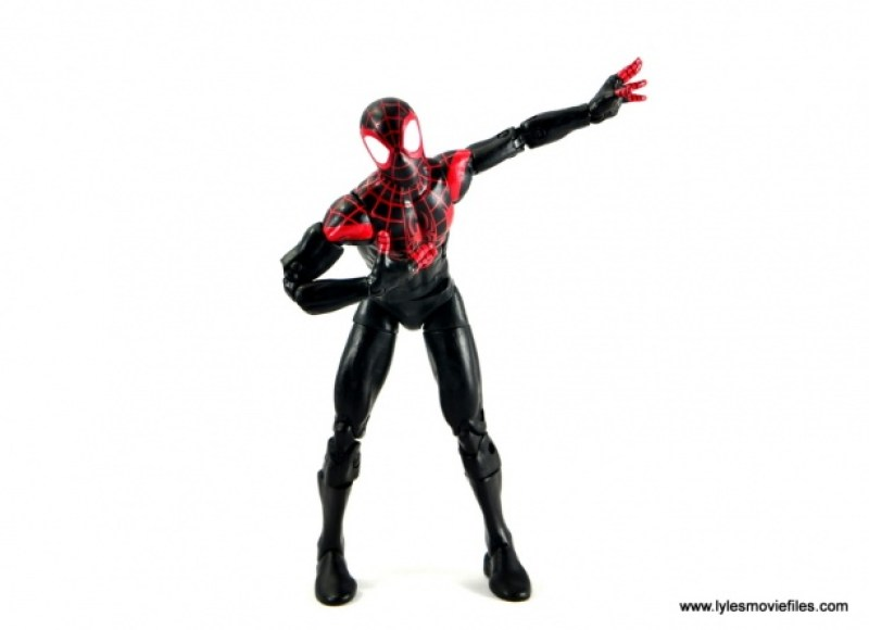 Marvel Legends Miles Morales figure review - taking a bow