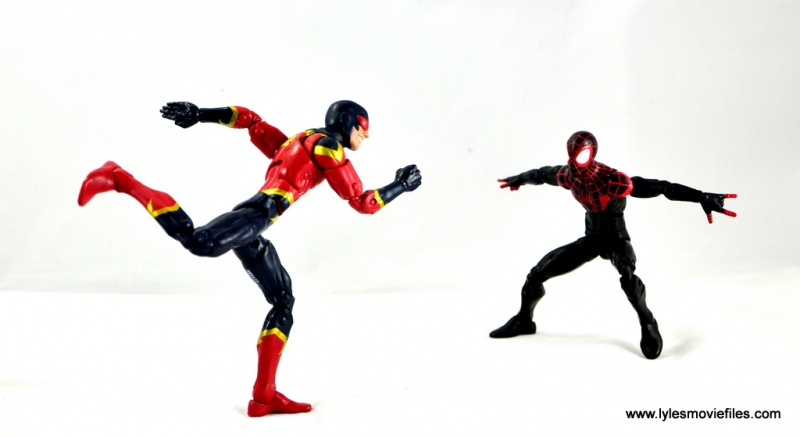 Marvel Legends Miles Morales figure review - vs Speed Demon