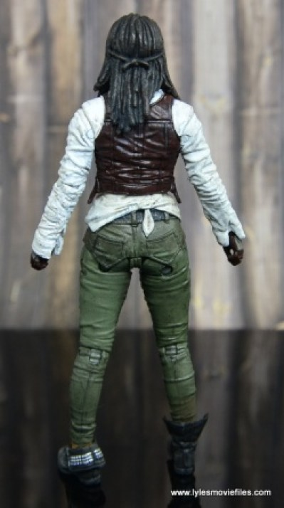 The Walking Dead Michonne figure review - rear