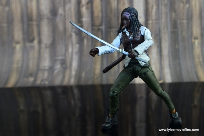 The Walking Dead Michonne figure review - with katana