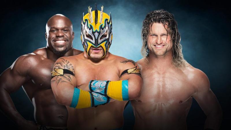 WWE Elimination Chamber 2017 - Apollo Crews and Kalisto vs Dolph Ziggler