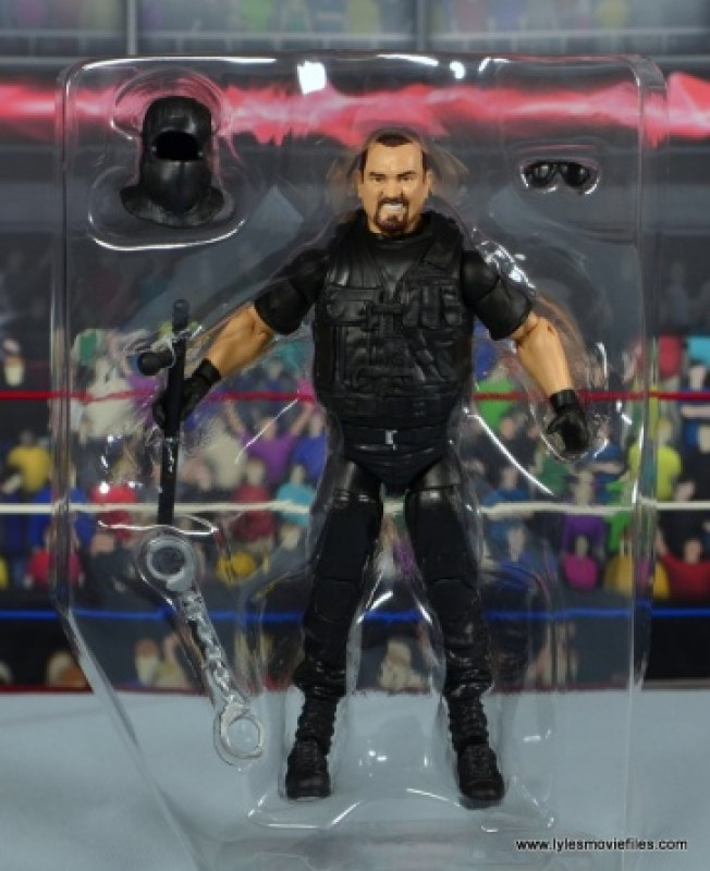 WWE Elite Big Boss Man figure review - accessories in tray