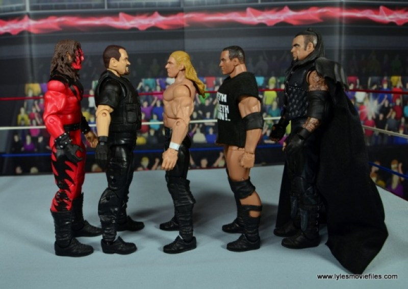 WWE Elite Big Boss Man figure review - scale with Kane, Triple H, The Rock and The Undertaker