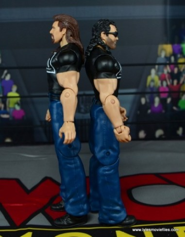 WWE Mattel The Outsiders Battle Pack figure review - back to back