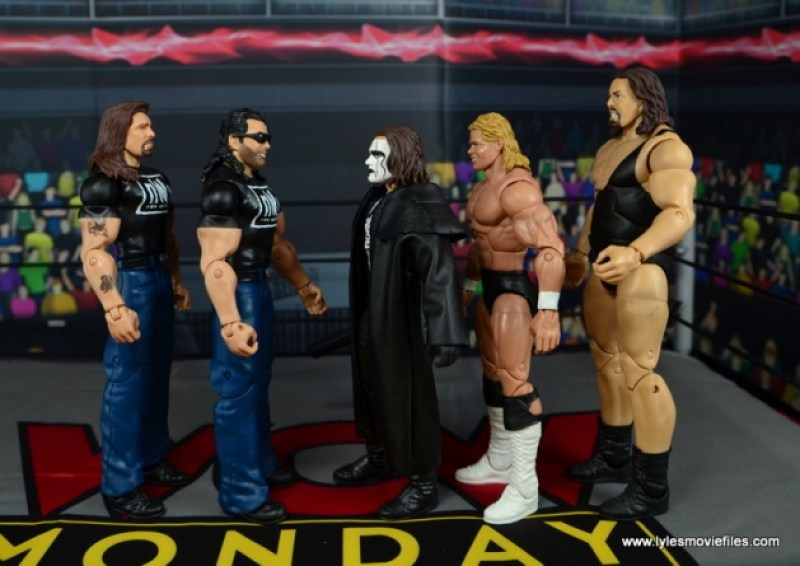 WWE Mattel The Outsiders Battle Pack figure review - scale to Sting, Lex Luger and The Giant