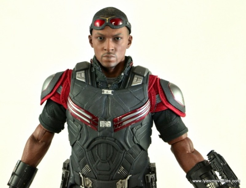Hot Toys Captain America Civil War Falcon figure review -wide detail shot