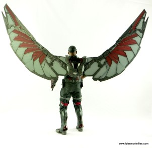 Hot Toys Captain America Civil War Falcon figure review -wings up rear