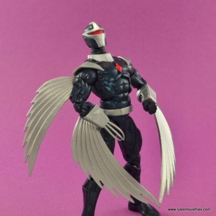 Marvel Legends Darkhawk figure review - looking up