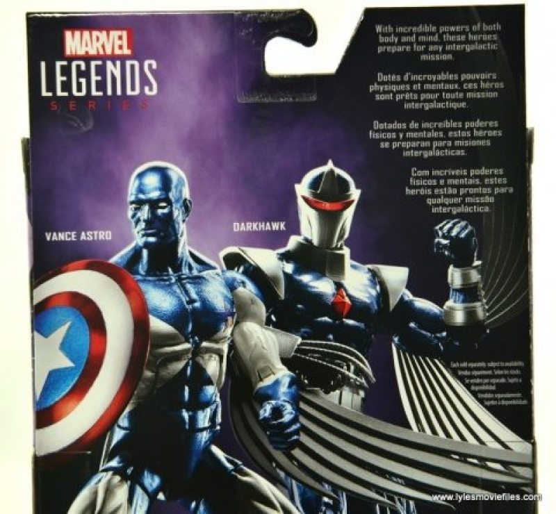 Marvel Legends Darkhawk figure review - package bio