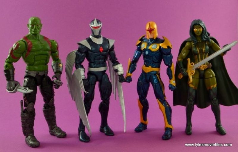 Marvel Legends Darkhawk figure review - with Drax, Nova and Gamora