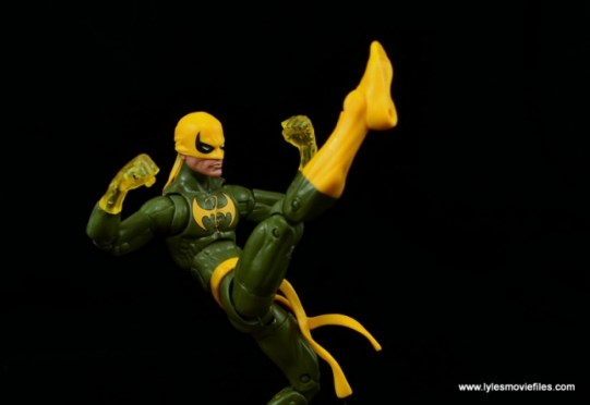 Marvel Legends Iron Fist figure review - front kick