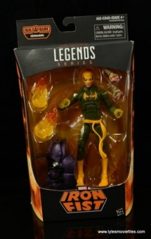 Marvel Legends Iron Fist figure review - package front