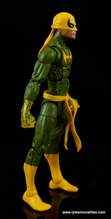 Marvel Legends Iron Fist figure review - right side
