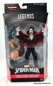 Marvel Legends Morbius figure review - front package