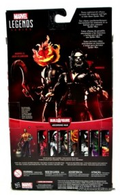 Marvel Legends Morbius figure review - package rear