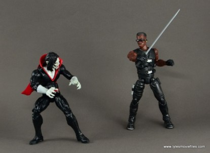 Marvel Legends Morbius figure review - vs Blade