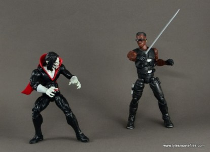 Marvel Legends Morbius figure review - vs Blade