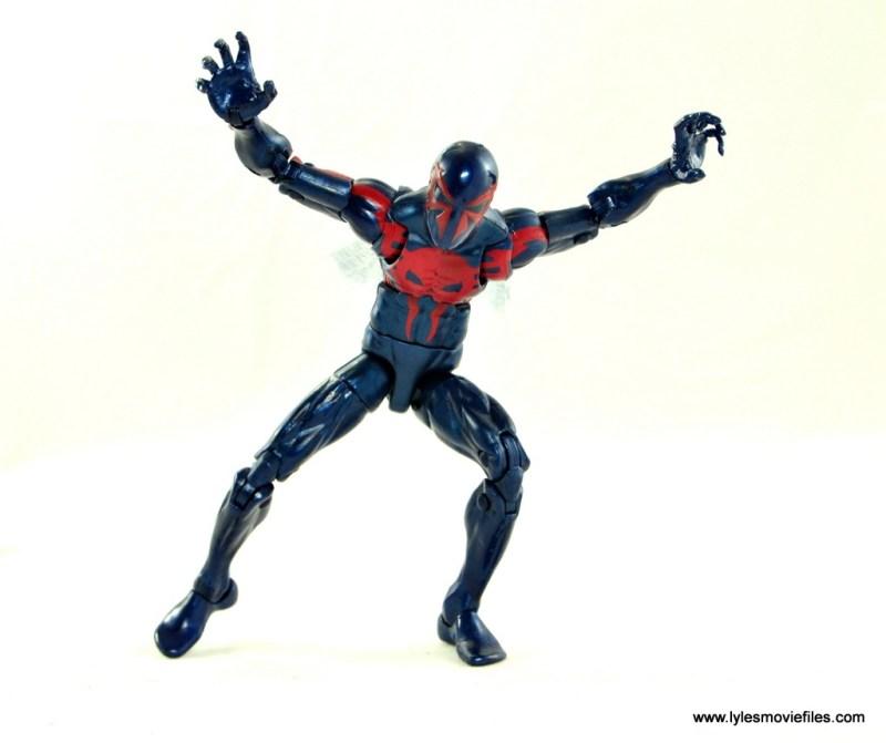 Marvel Legends Spider-Man 2099 figure review - attack mode