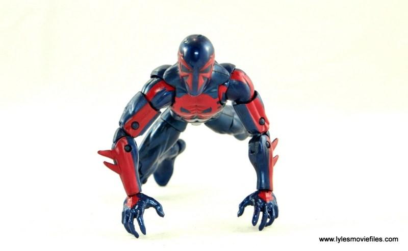 Marvel Legends Spider-Man 2099 figure review - crawling
