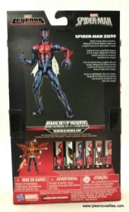 Marvel Legends Spider-Man 2099 figure review -package rear