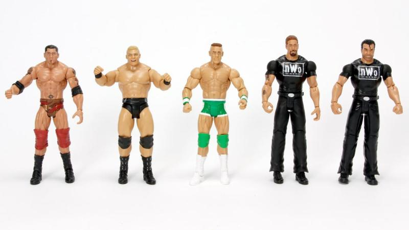WWE Class of 2002 set - Batista, Brock, John Cena, Kevin Nash and Scott Hall