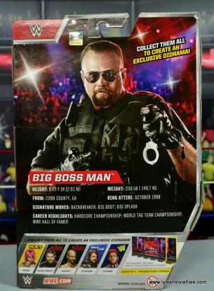 WWE Elite Big Boss Man figure review - package rear