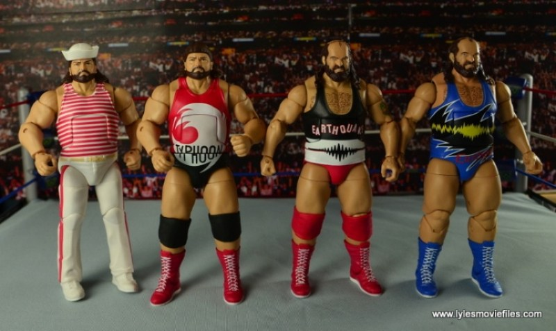 WWE Elite Natural Disasters figure reviews - Tugboat, Typhoon and Earthquake