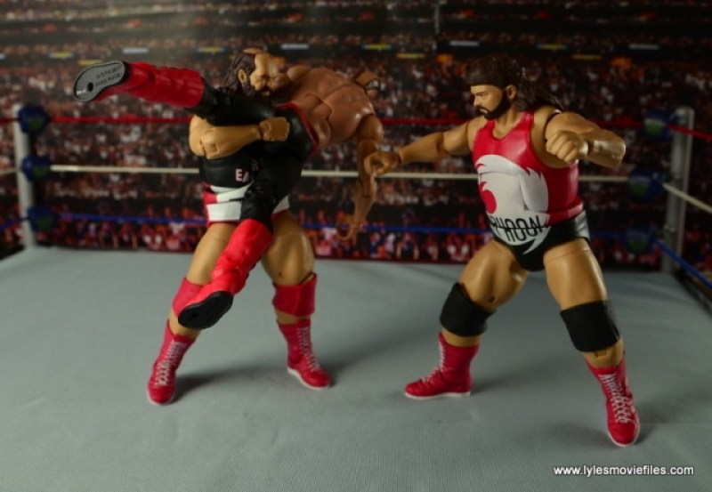 WWE Elite Natural Disasters figure reviews -picking up Hawk