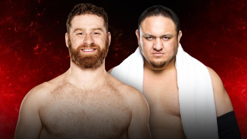 WWE Fastlane 2017 - Sami Zayn vs Samoa Joe