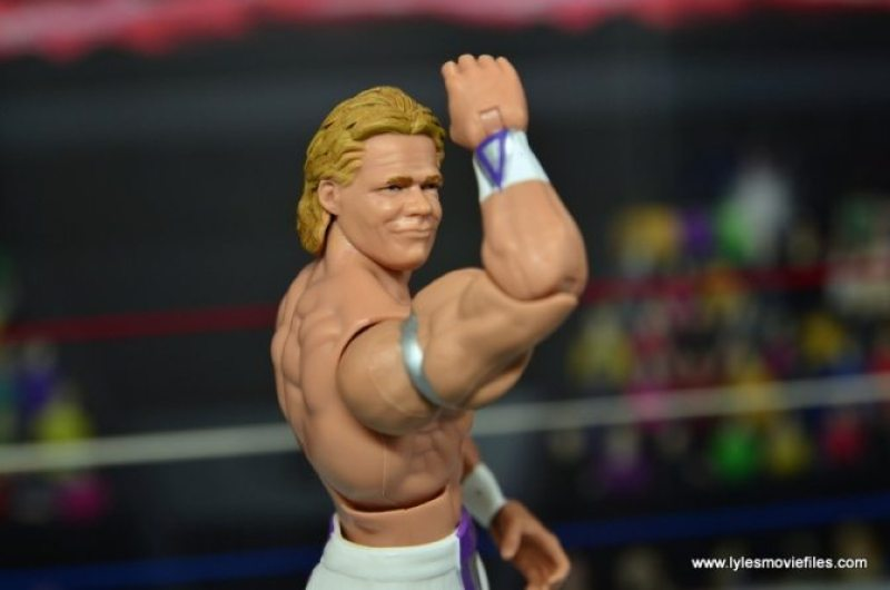 WWE Narcissist Lex Luger figure review - bicep pose