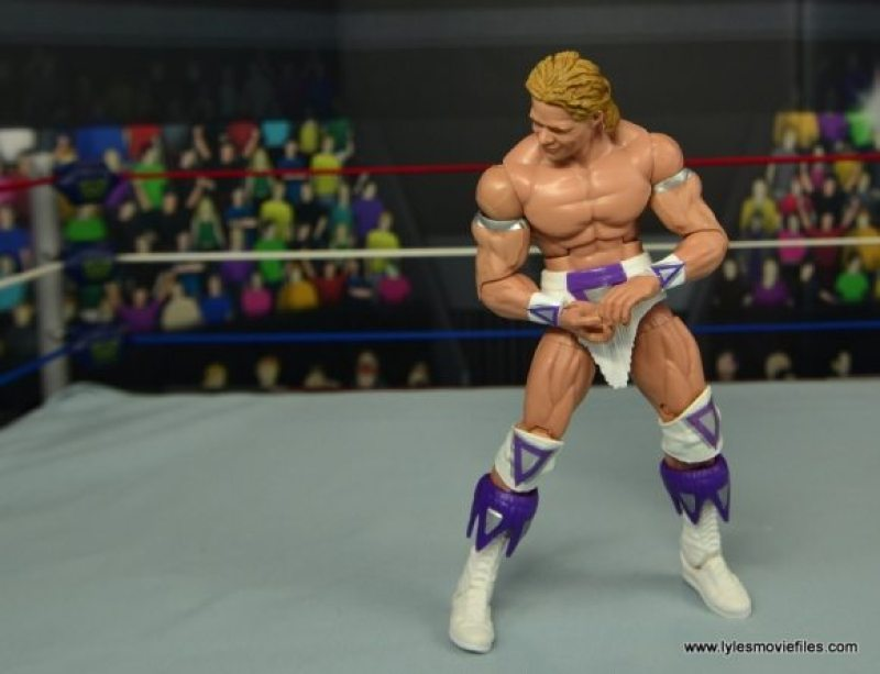 WWE Narcissist Lex Luger figure review - flexing