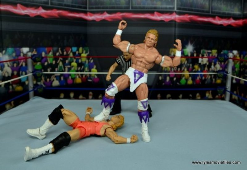 WWE Narcissist Lex Luger figure review - pinning Mr. Perfect