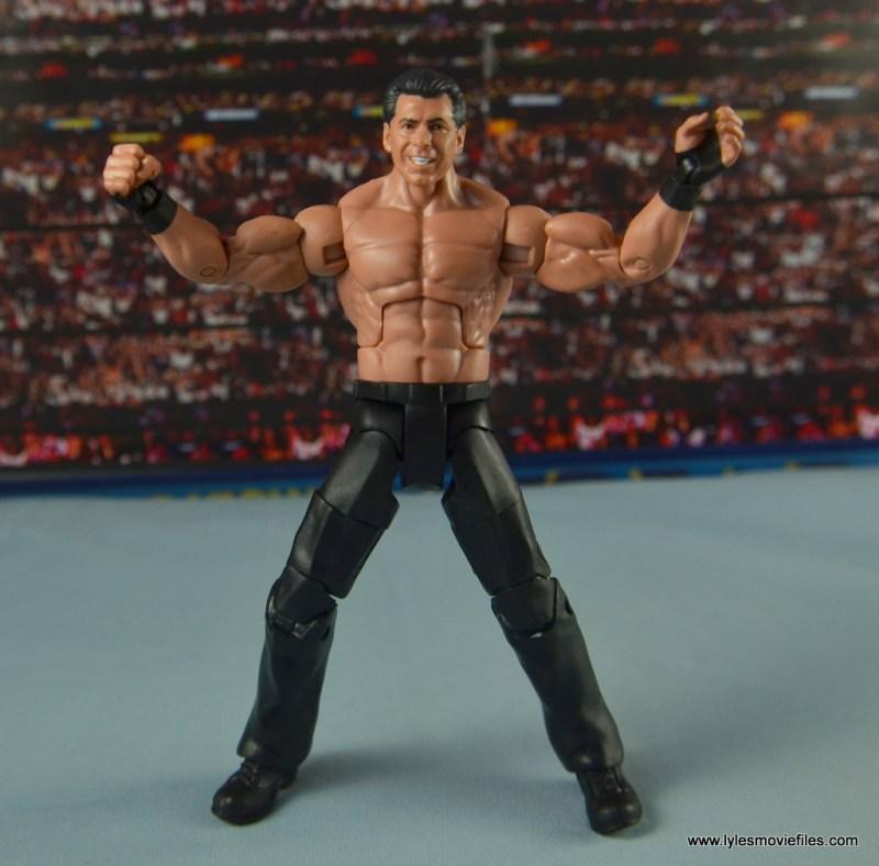 WWE Network Spotlight Vince McMahon figure review -flexing