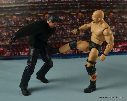 WWE Network Spotlight Vince McMahon figure review -kicked in the gut by Austin