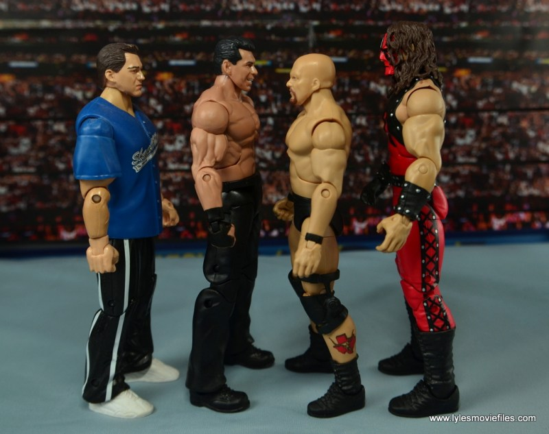 WWE Network Spotlight Vince McMahon figure review -scale with Shane McMahon, Stone Cold and Kane