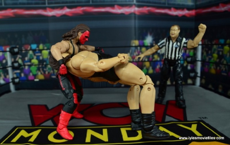 WWE Wolfpac Sting figure review -Scorpion Death Drop to The Giant
