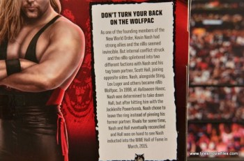 WWE nWo Wolfpac Kevin Nash Elite figure review - bio