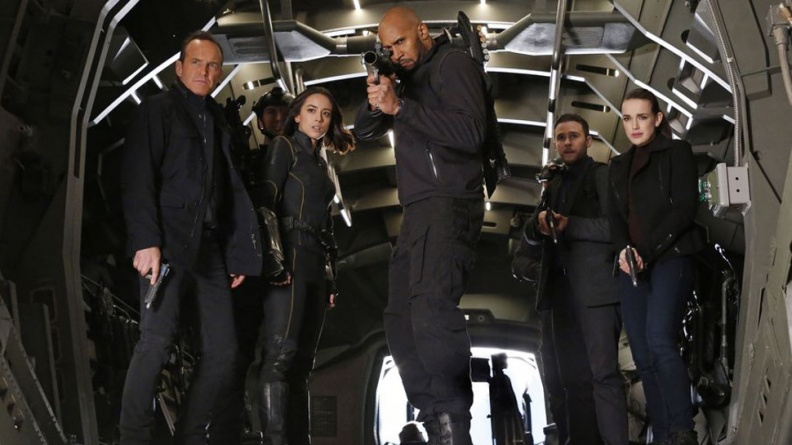 Agents-of-SHIELD the man behind the shield - coulson, quake, mack, fitz and simmons