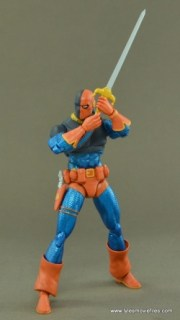 DC Icons Deathstroke the Terminator figure review -holding sword