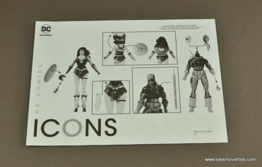 DC Icons Deathstroke the Terminator figure review -instructions