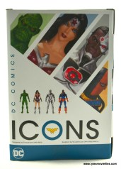 DC Icons Wonder Woman figure review -package rear