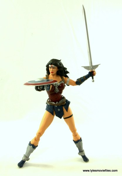 DC Icons Wonder Woman figure review -with shield and sword