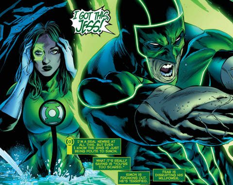Green Lanterns #20 interior art