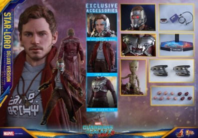 Hot Toys Guardians of the Galaxy Vol. 2 Star-Lord deluxe figure -collage
